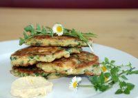 Grüne Pancakes